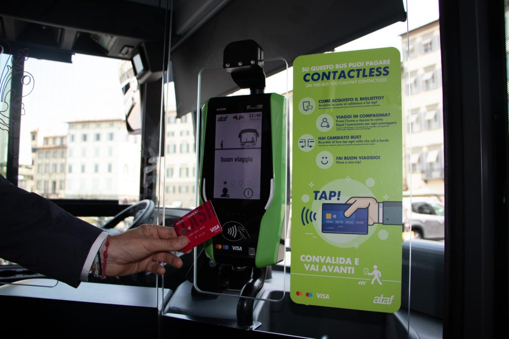 contactless ticket in florence
